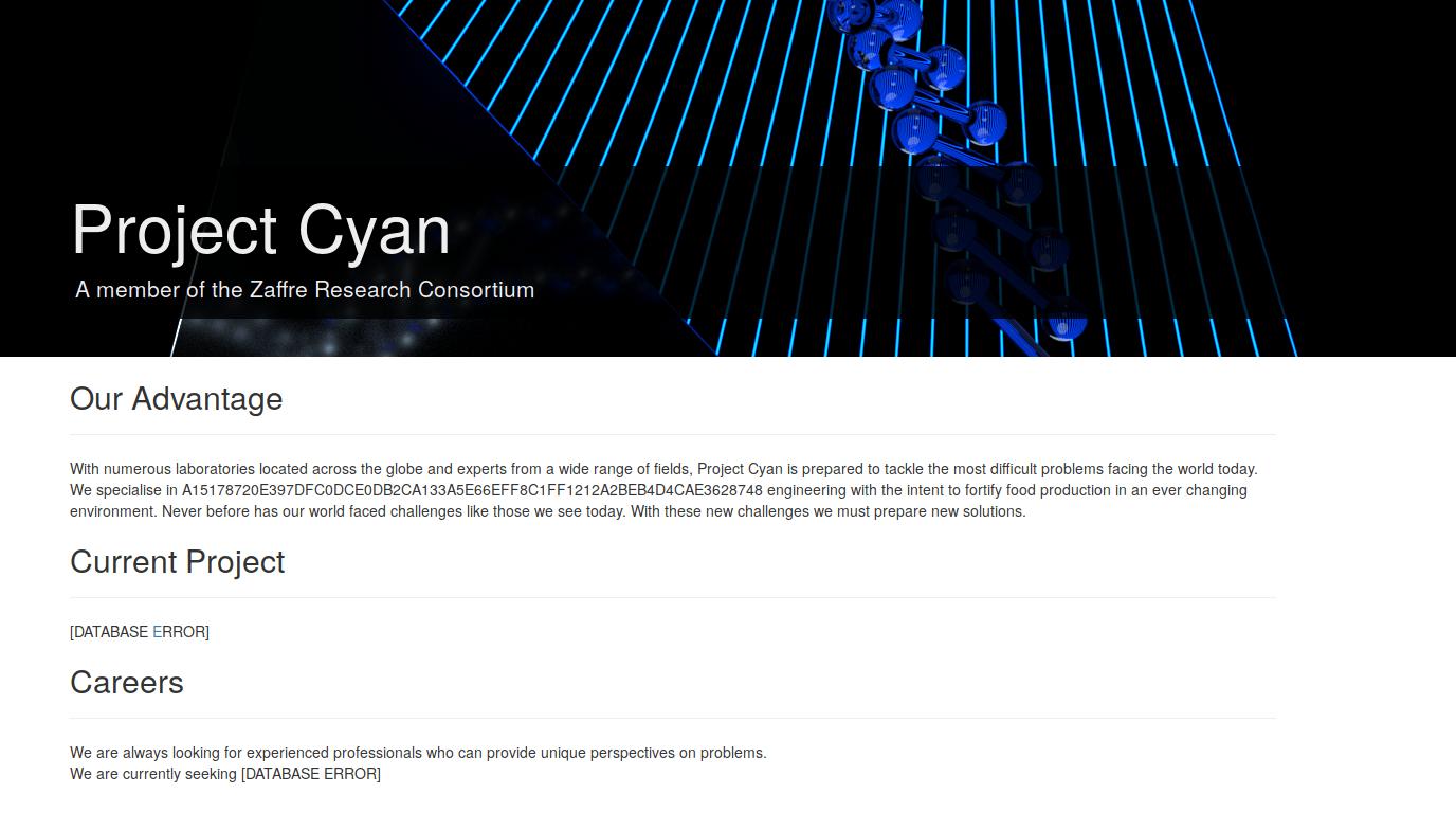 ProjectCyan frontpage
