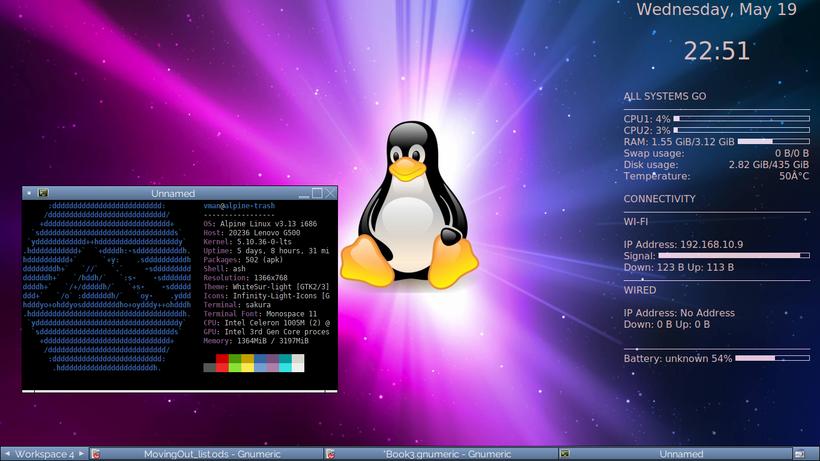 screenshot of my alpine desktop
